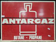 Sale 8476 - Lot 1007 - ANTARGAZ Double Sided Enamel Sign