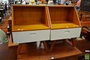 Sale 8515 - Lot 1037 - Pair of Temple and Webster Single Drawer Bedsides