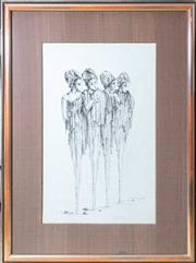 Sale 8550H - Lot 27 - Rodolf de Sanctis - Quatro Pedi Image W 30 x H 47cm