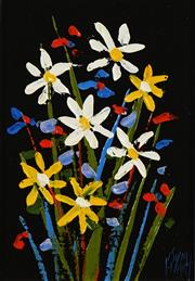 Sale 8781A - Lot 5004 - Kym Hart (1963 - ) - Wildflowers 16.5 x 11cm (frame: 32.5 x 27.5cm)