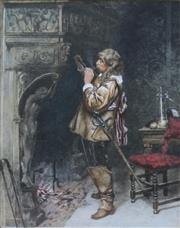 Sale 8738A - Lot 5047 - Paul-Adolphe Rajon (1842 - 1888) - The Smoker (after James Seymour Lucas), c1880 38 x 29cm