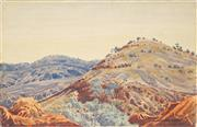 Sale 8808 - Lot 592 - Walter Ebatarinja (1915 - 1968) - Central Australia 25 x 37.5cm