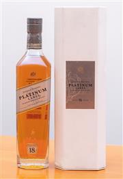 Sale 8891H - Lot 100 - A cased Johnny Walker Platinum Label 18 year old whisky 750ml