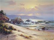 Sale 8938 - Lot 501 - Andris Janson (1939 - ) - Evening Shores on the Coast, VIC 44 x 59.5 cm