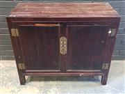 Sale 9026 - Lot 1097 - Oriental 2 Door cabinet (h:88 x w:106 x d:48cm)