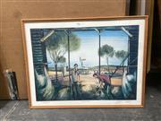 Sale 9091 - Lot 2086 - A signed Pro Hart decorative print, frame: 47 x 60 cm