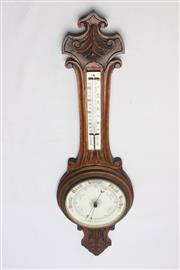 Sale 8685 - Lot 6 - Timber Barometer