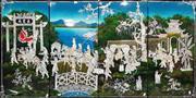 Sale 8724 - Lot 1044 - Set of 4 Oriental Panels