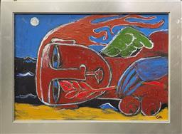 Sale 9101 - Lot 2005 - Gael Dunshea Mersleep 3  oil on board 46 x 63cm (frame) signed