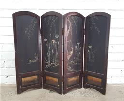 Sale 9108 - Lot 1056 - Japanese 4 panel folding dressing screen (h:76 w:116cm)