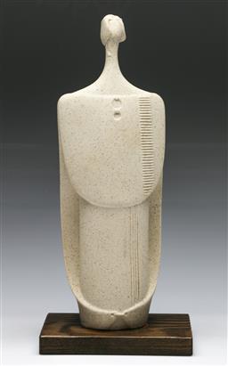 Sale 9148 - Lot 91 - Mounted Italian Lineasette figural study (H:30.5cm)