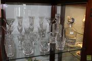 Sale 8288 - Lot 70 - Waterford Drink Wares incl. Siren Martini Glasses with Other Crystal & Glass incl. Decanters