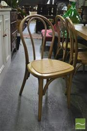 Sale 8341 - Lot 1022 - Set of Six Bentwood Dining Chairs