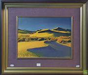 Sale 8600 - Lot 2092 - G. Holloway - Desert Dunes, oil on canvas board, 30 x 40cm, signed lower right