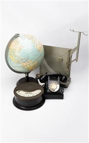 Sale 8739 - Lot 47 - Vintage Collection inc World Globe, Mormil Scale, Dial Telephone & Ampere Measure
