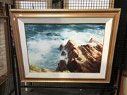 Sale 8824 - Lot 2044 - W. T Cooper - Crashing Waves giclee on canvas,signed lower right