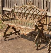 Sale 8871H - Lot 38 - Cast iron bench seat. Height 83cm x Length 92cm x Width 47cm