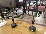 Sale 8896 - Lot 1051 - Pair Of Metal Candelabra