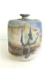 Sale 8963 - Lot 88 - Vintage Lidded  Studio Pottery Jar, Signed P D to base, h 24.5cm