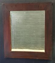 Sale 9026 - Lot 1087 - Timber Framed Mirror (90 x 81cm)