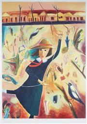 Sale 9067 - Lot 585 - Melissa Egan (1959 - ) - My Kite 89.5 x 64 cm (frame: 120 x 91 x 4 cm)