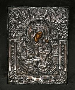 Sale 9144 - Lot 30 - A Silver 950 Byzantine style icon (16cm x 13cm)