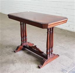Sale 9137 - Lot 1092 - Twin pedestal hall table (h:70 x w:93 x d:50cm)