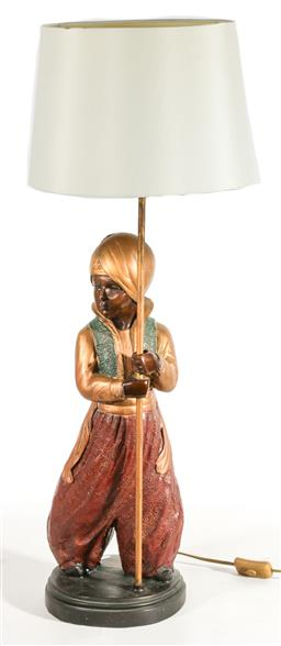 Sale 9153 - Lot 20 - A Blackamoor Style table Lamp (H: 84cm)