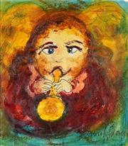 Sale 8549 - Lot 534 - David Boyd (1924 - 2011) - Cherub Music 19.5 x 17.5cm