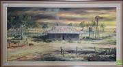 Sale 8600 - Lot 2073 - Alan Sartori King Cottage A Morning from the Past, oil on canvas board, 36.5 x 75cm, signed and titled lower right