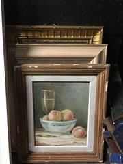 Sale 8674 - Lot 2080 - Daniel Pata - Pont Louis Phillippe, oil on canvas on board, 34 x 48cm, signed lower right Plus Still Life & Decorative Print -