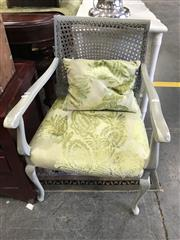 Sale 8822 - Lot 1519 - Timber Framed Armchair with Ratan Back
