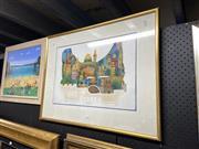 Sale 8878 - Lot 2085 - Artist Unknown - OJerusalem, Screenprint 39/200, 38x56.5