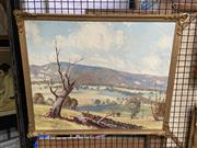 Sale 8927 - Lot 2018 - Frederick Roberts - Country Landscape  oil on board, 50x 60cm, signed lower left