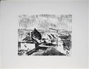 Sale 9001 - Lot 590 - Lloyd Rees (1895 - 1988) - Suburban Hobart, 1982 29 x 40 cm (sheetsize: 50 x 66 cm)