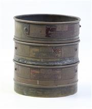 Sale 8997 - Lot 98 - Endecotts Vintage Filters Test Sieve with Three Stages