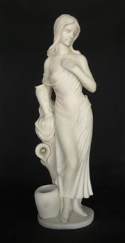 Sale 9015G - Lot 41 - Carved Alabaster Lady Sculpture ,General Wear .Size:58cm H .