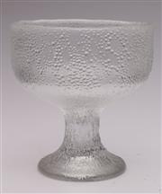 Sale 9052 - Lot 386 - An Impressive Finnish Textured Glass Hopla Footed Bowl , Tapio Wirkkala for Iittala  (H: 23cm)