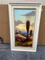 Sale 9091 - Lot 2084 - L. Albertyn Rural Landscape & Cottage, oil on board, frame: 74 x 44 cm, signed lower left