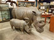 Sale 7905A - Lot 1695 - Life-Size Rhinoceros, Museum Replica