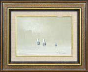 Sale 8301A - Lot 86 - Robert Hagan (1947 - ) - What did he say? 24.5 x 35.5cm