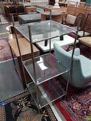 Sale 8601 - Lot 1549 - Tiered Metal Open Shelves