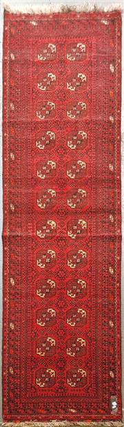 Sale 8653 - Lot 1034 - Afghan Qunduzi Runner (281 x 79cm)