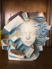 Sale 8730B - Lot 81 - Ceramic Lady Form Abstract Vase H: 18cm