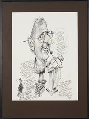 Sale 8762 - Lot 2067 - Tony Rafty (1915 - 2015) - Hugh MacKay at the Inch Club Sydney, 2000 48 x 36.5cm