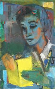 Sale 8821 - Lot 526 - Judy Cassab (1920 - 2015) - The Student, 1957 71 x 44cm