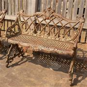 Sale 8871H - Lot 37 - Cast iron bench seat. Height 83cm x Length 92cm x Width 47cm
