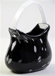 Sale 8997 - Lot 20 - Murano Style Glass Handbag Vase, H:22cm