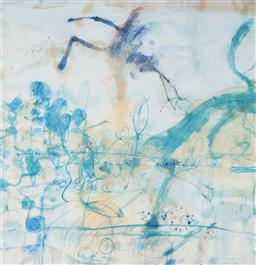 Sale 9112A - Lot 5018 - John Olsen (1928 - ) - Morning at the Lily Pond, 1997 64 x 61.5 cm (frame: 93 x 84 x 4 cm)
