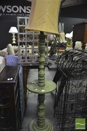 Sale 8341 - Lot 1043 - Carved Timber Standard Table Floor Lamp